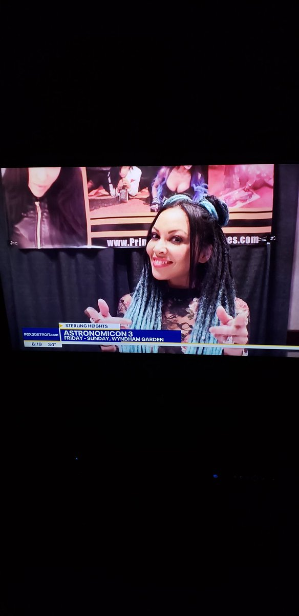 Look who made the news in Detroit @carlaharvey 🤘🤘