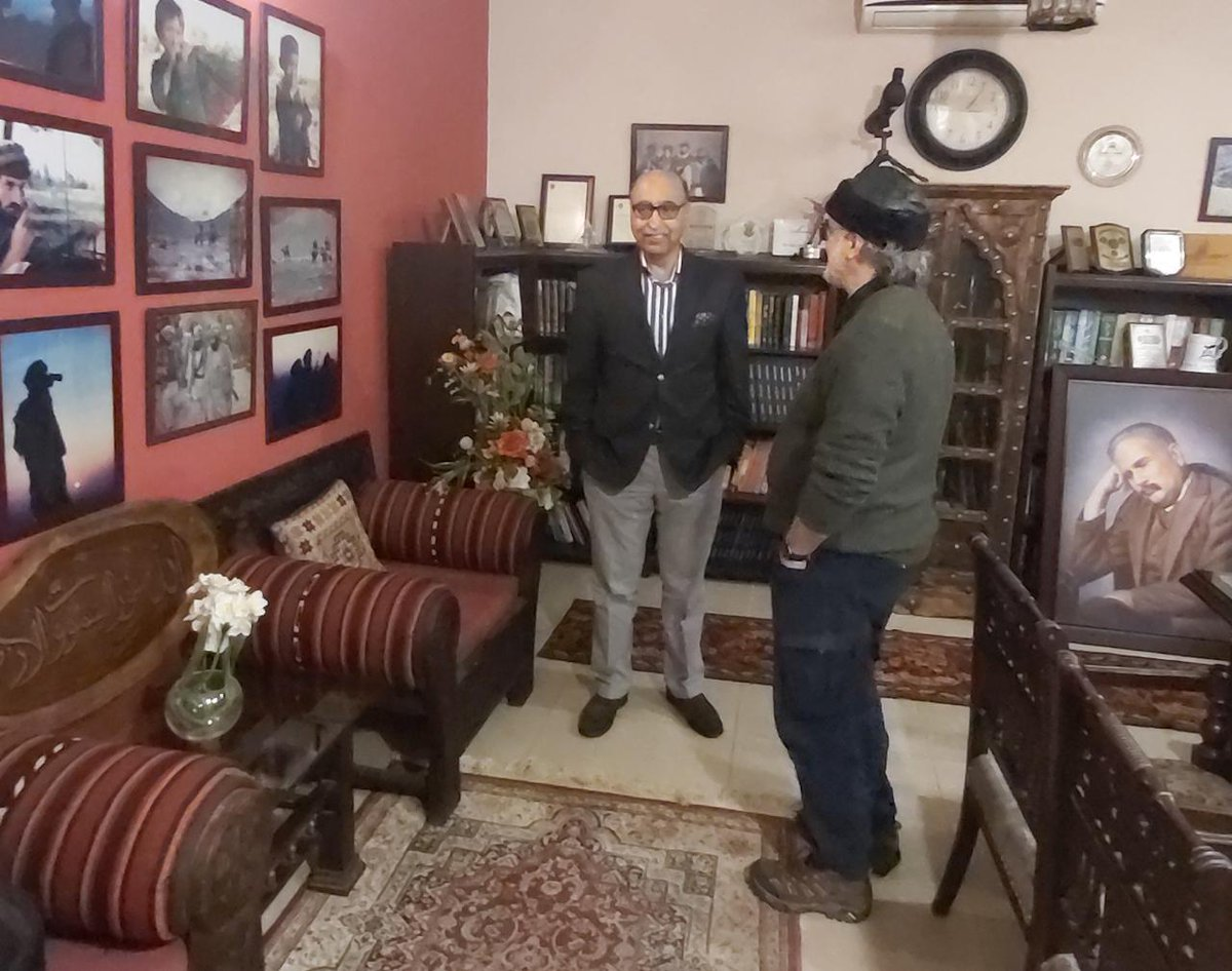 Ambassador Abdul Basit came to visit today and we recorded a 30 minutes discussion on Pakistans foreign policy issues and role of govt and GHQ. A seriously thought provoking candid and patriotic discussion. To be aired after couple of days iA. Shall share the link here.