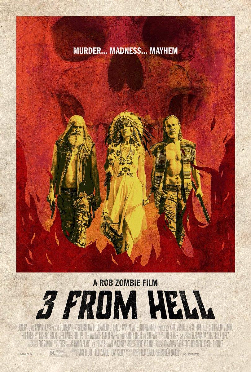 "#NowWatching ""3 from Hell"" directed by #RobZombie  #SheriMoonZombie  #BillMoseley  #SidHaig  #RichardBrake  #DannyTrejopic.twitter.com/wXwM3btZ3U"