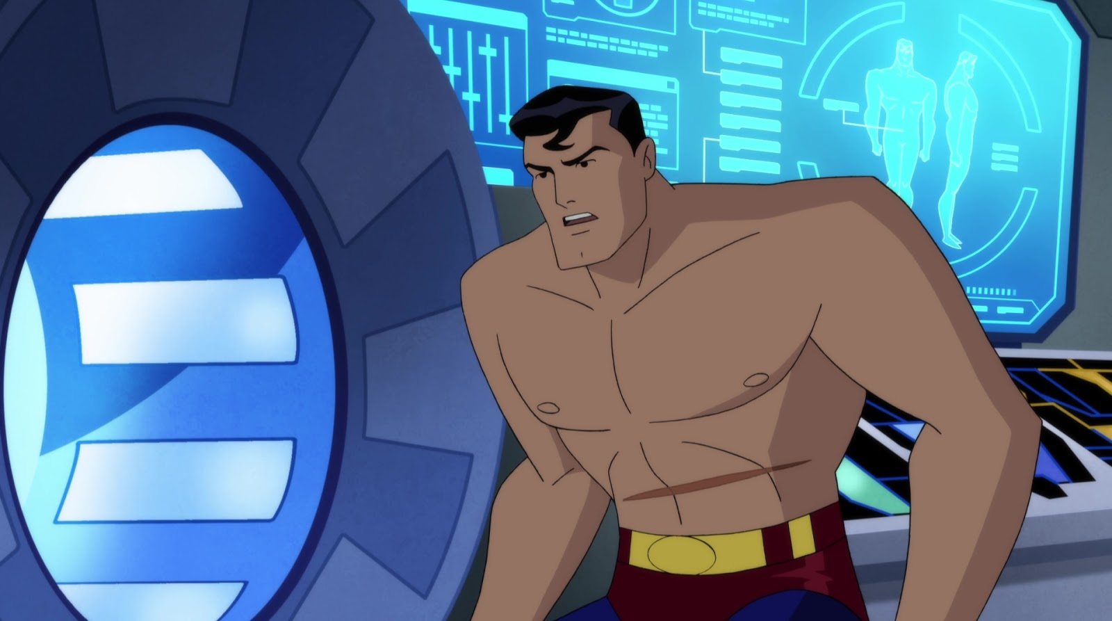 Shirtless Superheroes On Twitter Shirtless Superman In Justice League Vs The Fatal Five More Caps At Https T Co Z130zon4nr