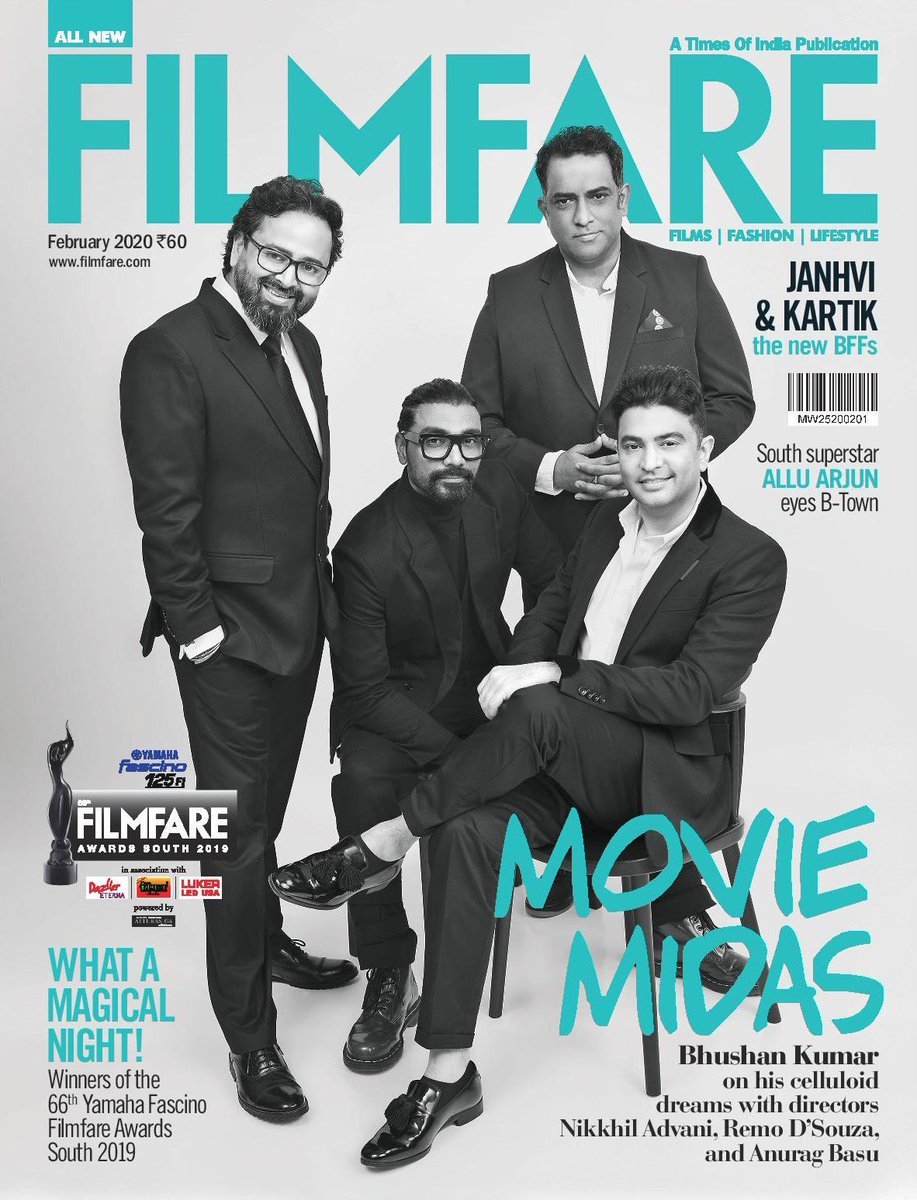 Sharing my first cover with these stalwarts of the industry @itsBhushanKumar @nikkhiladvani @basuanurag