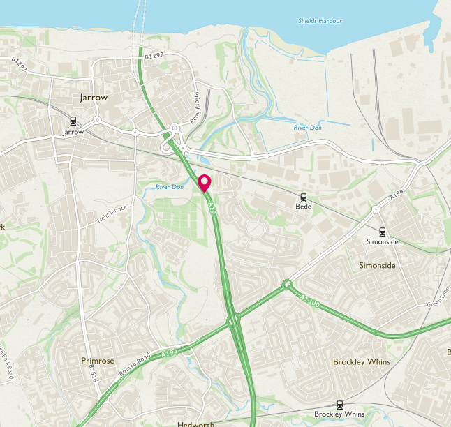 💥 COLLISION  A19 northbound approach to Tyne Tunnel in #Jarrow involving 4 vehicles.