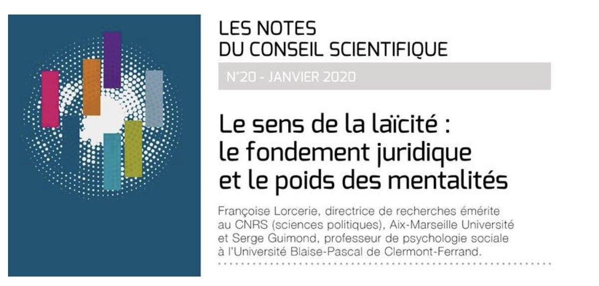 """test Twitter Media - """"Le sens de la #laïcité : le fondement juridique et le poids des mentalités"""", par Françoise Lorcerie et Serge Guimond. La dernière note du conseil scientifique de la #FCPE vient de paraître. https://t.co/yOkH5MxGFz https://t.co/a0RODqGfws"""