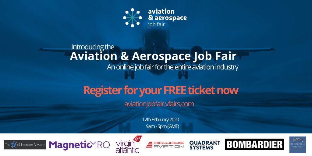 Online #Aviation & #Aerospace Job Fair taking place on 12 Feb. Youll be able to discover multiple job and training opportunities, watch live webinars and speak with exhibitors through text, audio or video chat. Register here: bit.ly/37Yac3K @livunieng #LivUni2020