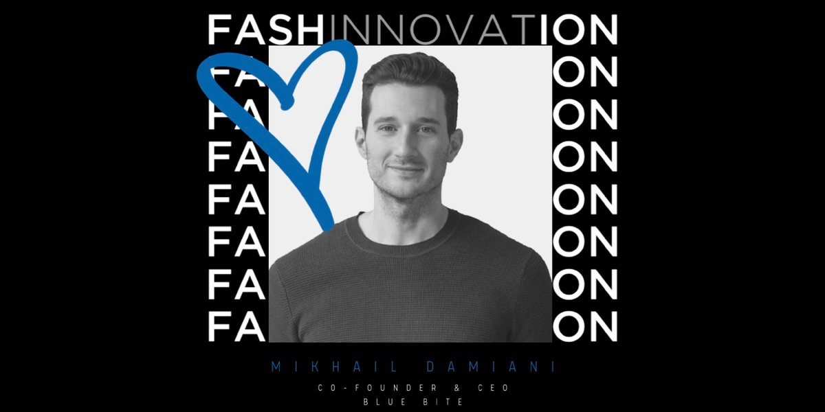 Blue Bite #CEO, Mikhail Damiani, will be speaking at #Fashinnovation 2020 this Wednesday, February 5th! The event will focus on the innovations and technologies that are shaping the #fashion industry and current trends. #fashionistolove #fashinnovationNYC @Fashinnovation_pic.twitter.com/55TBMiPevp