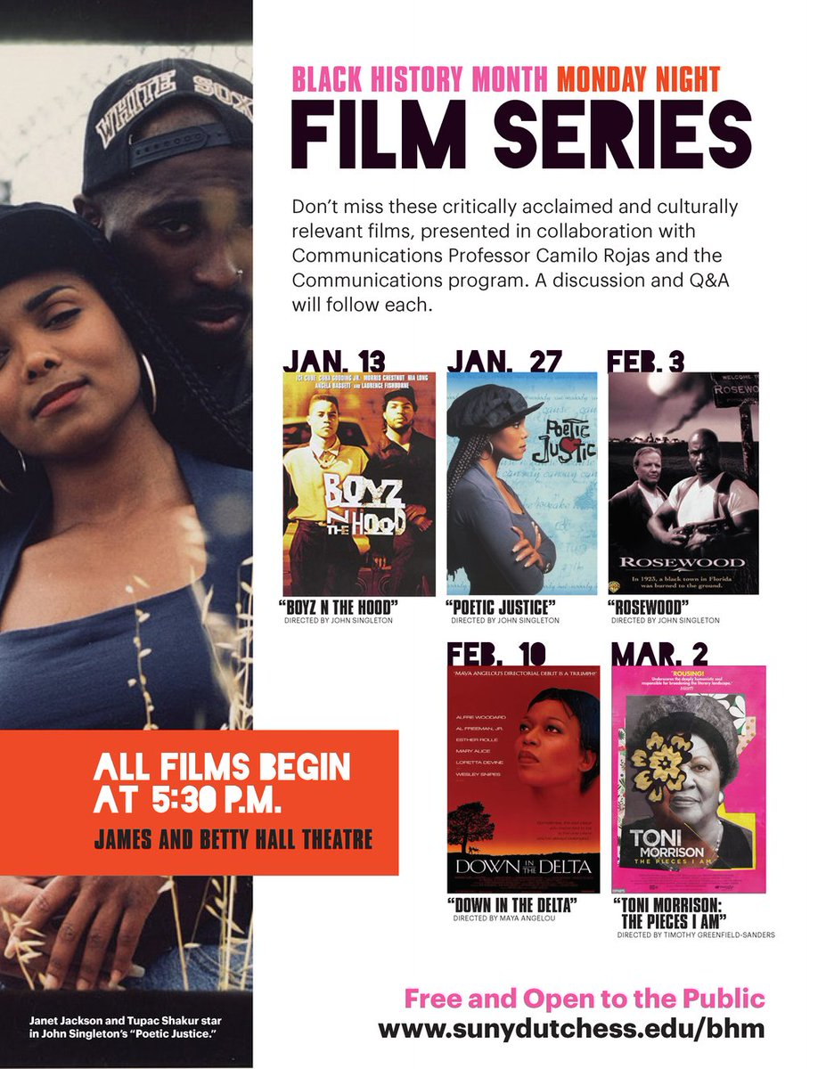 """The Black History Month Film Series continues today with """"Rosewood"""" at 5:30 p.m. in the James and Betty Hall Theatre."""