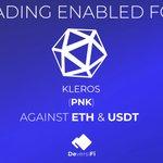 Image for the Tweet beginning: The @Kleros_io (PNK) token has