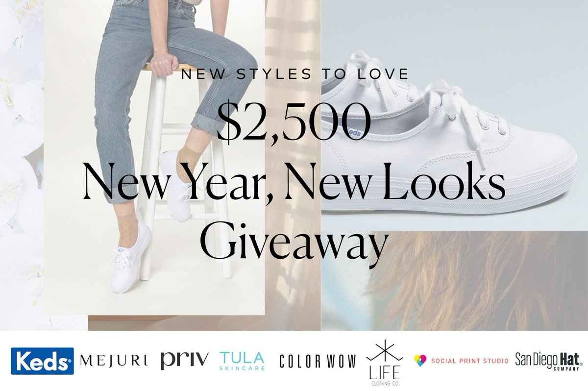 New Year, New You! We teamed up with a few of our favorite brands to giveaway $2,500 in gift cards and prizes. Enter here for a chance to #win: https://t.co/gIv3Sggiz7. https://t.co/nDlsCXigJY