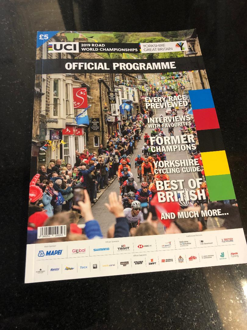 Did you get a copy of the Official Programme for the 2019 UCI Road Worlds in Yorkshire? If not I have the last few left ever here.