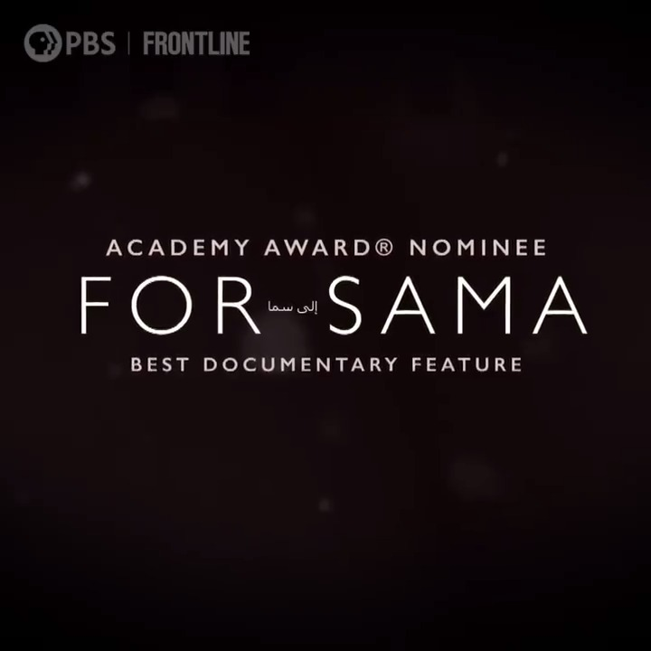 Ahead of the #Oscars this weekend, you can watch @forsamafilm — our Best Documentary Feature nominee — right now on the @PBS Video app and on our website. to.pbs.org/2Oyave7