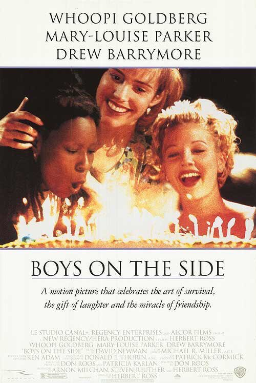 MOVIE HISTORY: 25 years ago today, February 3, 1995, the movie 'Boys on the Side' opened in theaters!  @WhoopiGoldberg #MaryLouiseParker #DrewBarrymore #MatthewMcConaughey #JamesRemar #BillyWirth #AnitaGillette #AmyAquino #DennisBoutsikaris #EstelleParsonspic.twitter.com/fdpy0HEMKi