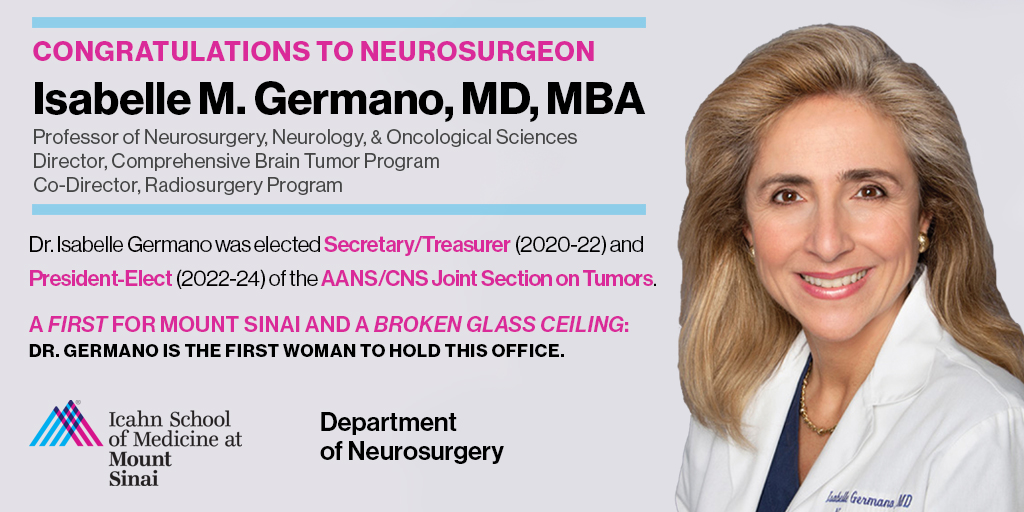 "Mount Sinai Neurosurgery on Twitter: ""Congrats Dr Germano! She was ..."