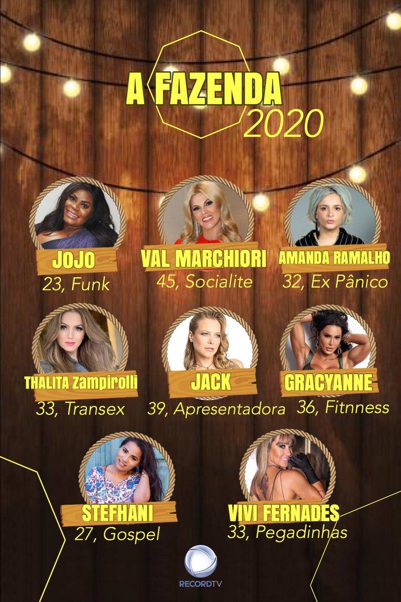 QUE TIME MEUS AMIGOS, QUE TIME!!!!!!!! #AFazenda12 #Record2020 #RecordTv #FogoNoFeno #OBichoVaiPegarpic.twitter.com/A6Jrgkbudy
