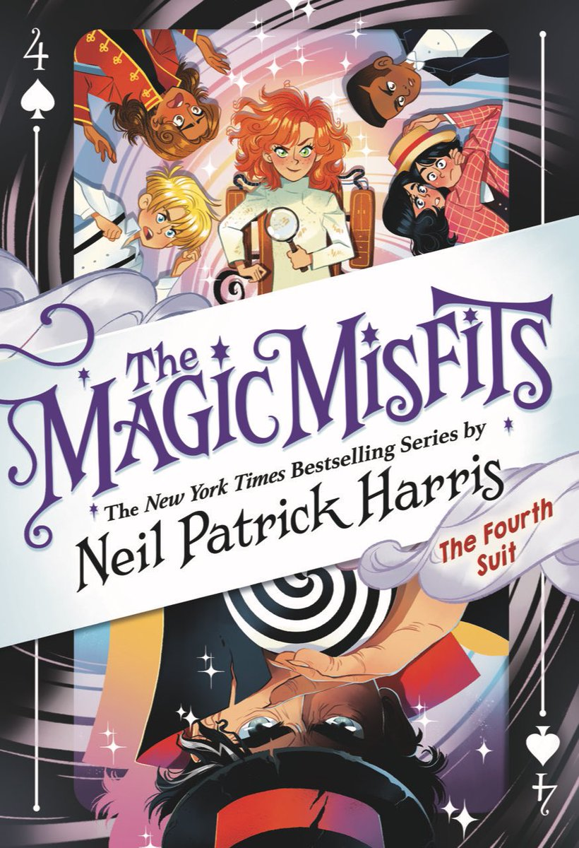 "@ActuallyNPH ""I'm proud and excited to reveal the cover of the final book in #TheMagicMisfits series, The Fourth Suit, coming this fall!  @LittleBrownYR """