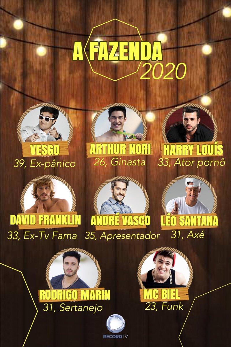 QUE TIME SENHORAS E SENHORES, QUE TIME!!!!!!! #AFazenda12 #FogoNoFeno #Record2020 #OBichoVaiPegar @recordtvoficial @marcosmion @Rodrigo_Carellipic.twitter.com/sKnkXlTQtl