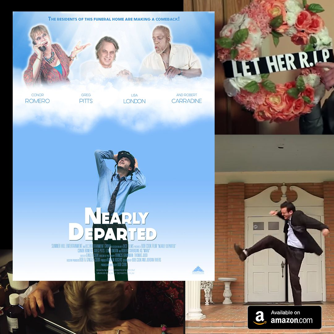After the love of his life dies, Wilmont takes a job at Dobbs Funeral Home where he receives unwanted advice from the people he's burying. #NearlyDeparted #independentfilm #comedymovie pic.twitter.com/jppddyMhLf