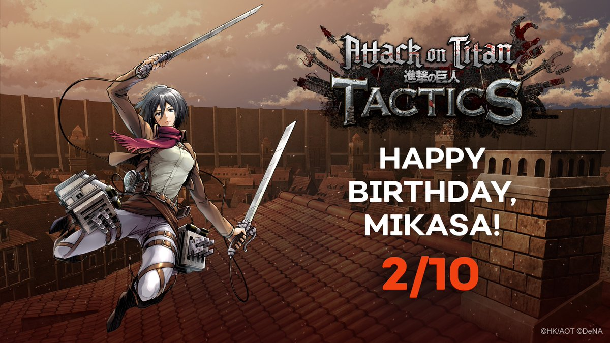 Happy Birthday, Mikasa! Thank you for showing us that through it all, the world really is a beautiful place. ✨