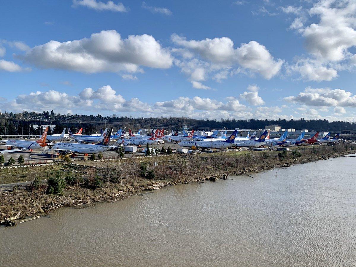 Resultado de imagen para Boeing 737 MAX grounded Seattle