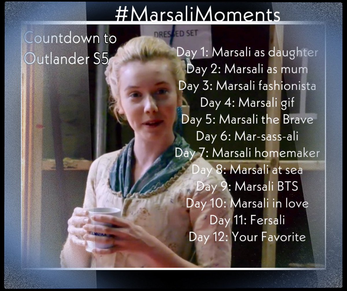 Starting on Wed., February 5th, help us count down the days until the end of Droughtlander and the start of #Outlander S5.  Post your favorite #MarsaliMoments from @Outlander_STARZ or from @Writer_DG's books📚📖. Looking forward to the return of @LlaurenLyle & #MarsaliFraser!