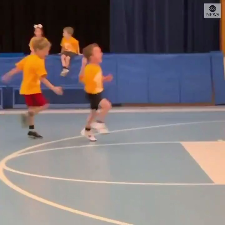 HYPED UP: This 5-year-old baller from Connecticut made sure everyone knew how excited he was after sinking the first basket of his young career.Fortunately, one of his teammates reminded him to get back on defense. https://abcn.ws/37RPPFs