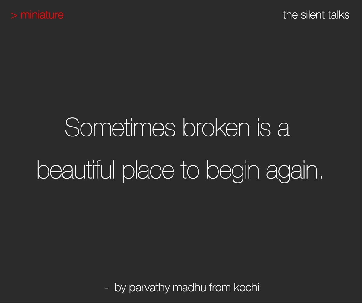 > miniature | Written by Parvathy Madhu from Kochi -- #thesilenttalks #TST #writer #writersofinstagram #writersofig #writerscommunity #writerslife #writersofindia #story #storytelling #storyteller #poetryofinstagram #wordporn #microfiction #literature pic.twitter.com/TNX9SByjfM