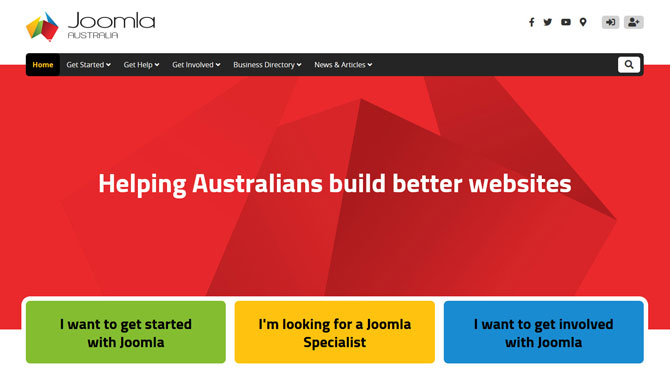 Joomla Australia is very pleased to announce the launch of our brand new website!   Please visit, and don't forget to subscribe to our mailing list for upcoming news of 2020 JoomlaDay Australia!  #JoomlaAu #Joomla    https:// joomla.org.au/news-articles/ a-new-website-for-the-joomla-australia-community  … <br>http://pic.twitter.com/l1b2izXgtI