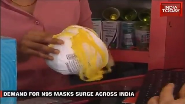 #Coronavirus alarm:  The sale of N95 face masks has soared in Delhi, triggering a massive shortage of the protective gear. @Isha_Gupta409 brings us more on this.Watch #FirstUpMore Videos: https://indiatoday.in/videos.