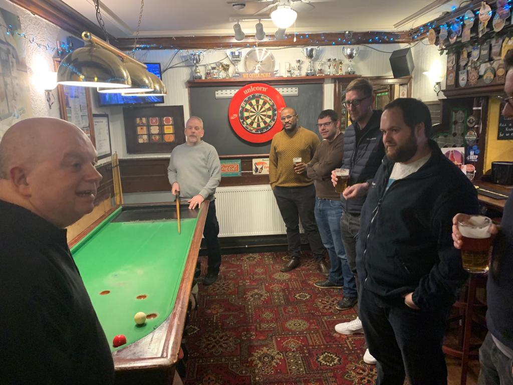 What amazing night we had @CottageOlde. Thanks to Trevor, Neil and John for having us back.  Bagatelle is a sport that takes 5 minutes to learn and Lifetime to master!  Congrats to Chris's team on their victory.  #Chester #DoMore #Bagatelle #pubsports #chestertweets @ShitChester pic.twitter.com/HV08rNMbAU