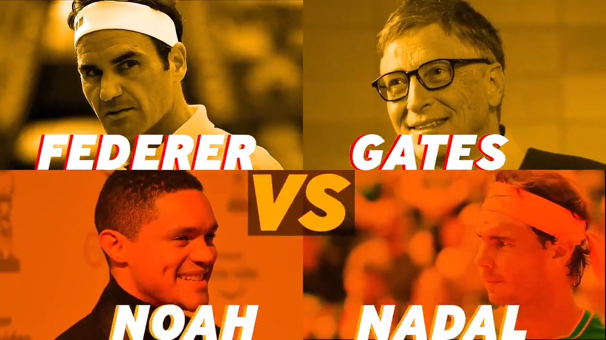 I'm excited to team up with @rogerfederer again for the Match in Africa Friday in Cape Town. Playing alongside Roger is always a thrill, and I can't wait to face off against @RafaelNadal and @Trevornoah.