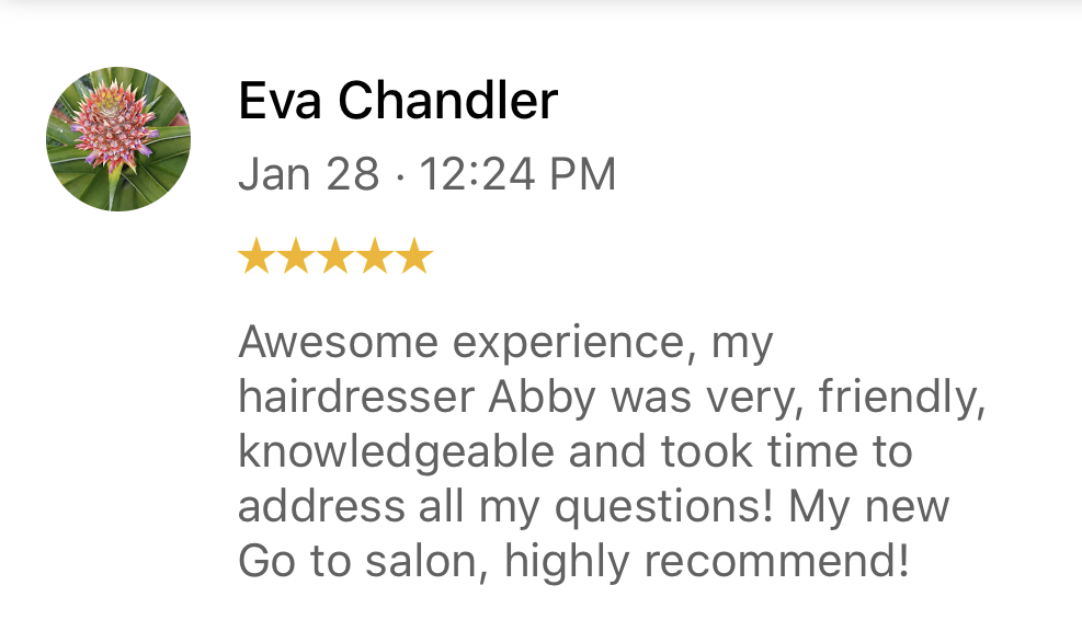 Thank you for the stellar Google review Eva! We appreciate you taking the time to brag about your experience and look forward to seeing you soon! Thanks for choosing Three-13 Salon, Spa & Boutique! #three13salonspa #weloveourguests