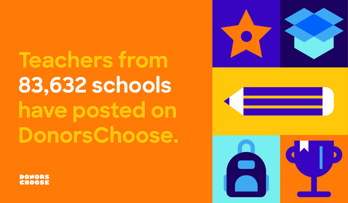 #DidYouKnow… 84% of all U.S. public schools have at least one teacher who has posted a project on DonorsChoose.