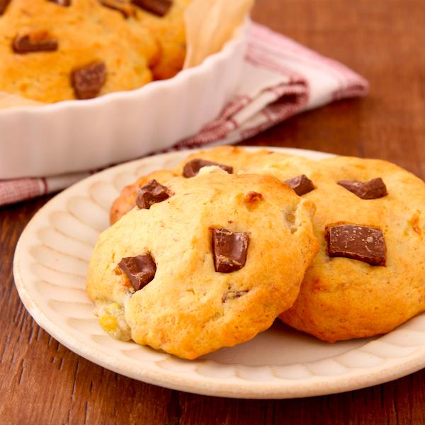 【チョコバナナクッキー】バターなし、ホットケーキMIXで超簡単。