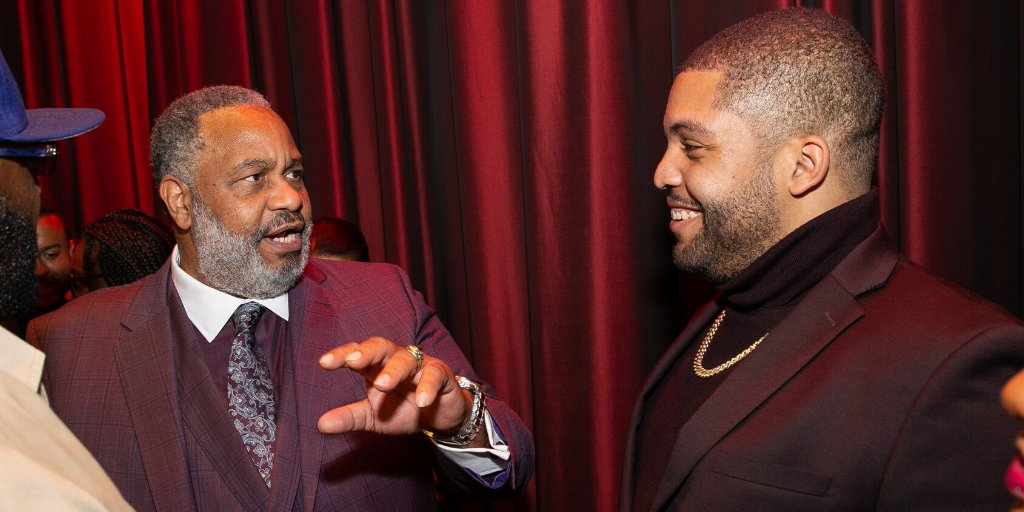 Actor @OsheaJacksonJr with the man he brilliantly portrayed in @JustMercyFilm, Anthony Ray Hinton. Mr. Hinton spent 30 years on death row for a crime he did not commit.