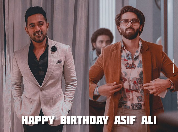 Wishing a very happy birthday to Asif Ali by Dulquer Salmaan Fans.