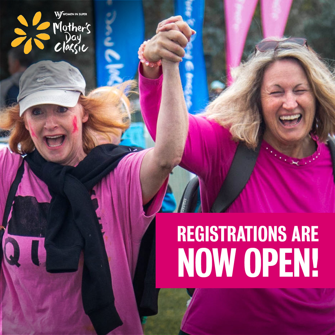 Early bird registrations for the Mother's Day Classic are now officially open️ 🐦! On Sunday May 10th, nearly 100,000 Australians will run or walk to raise awareness and funds for breast cancer research. Register now at https://t.co/AcO5BQXJ2D #mdc2020 #makeitmeanmore https://t.co/xAtSqyCYUJ