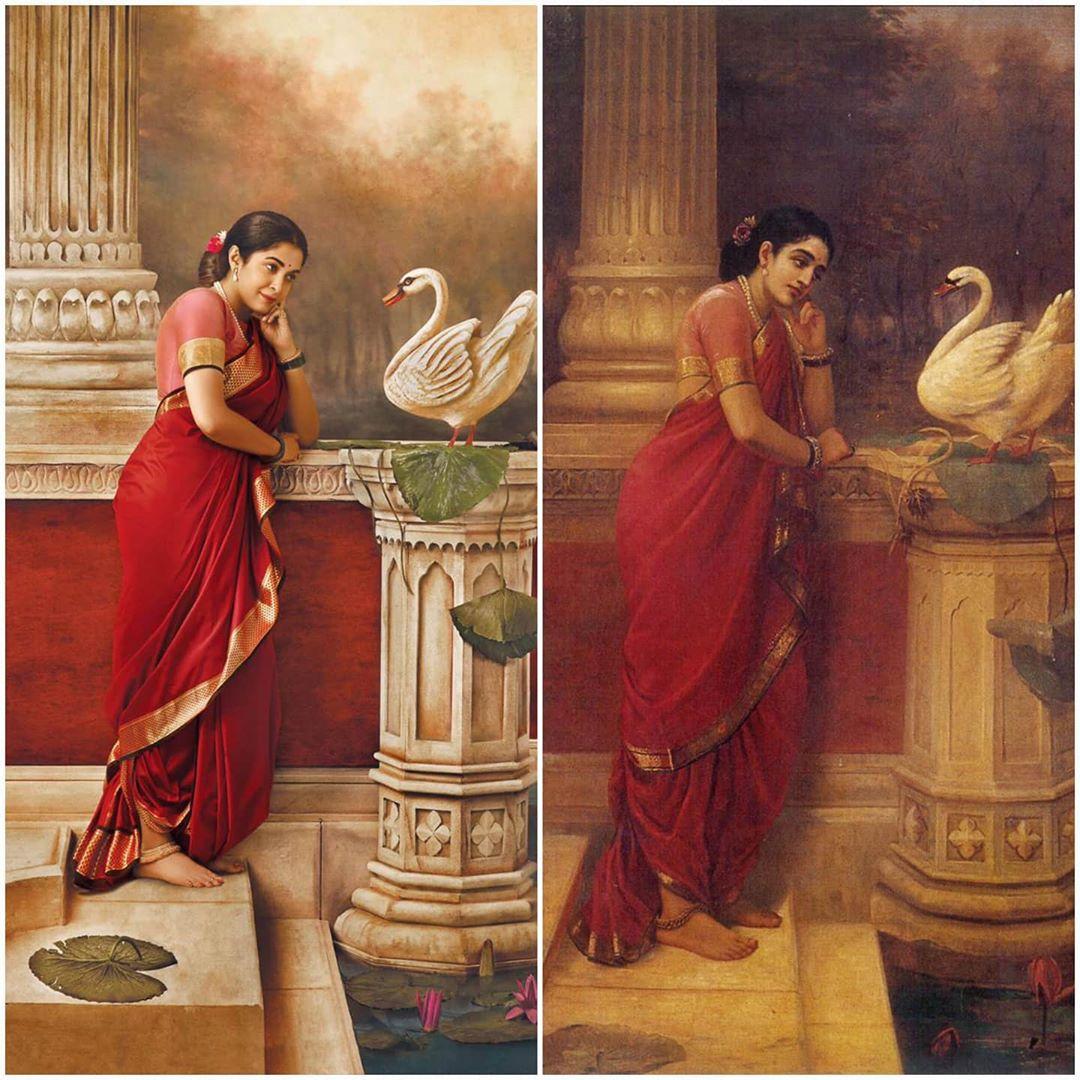 ramya krishna ravi varma painting
