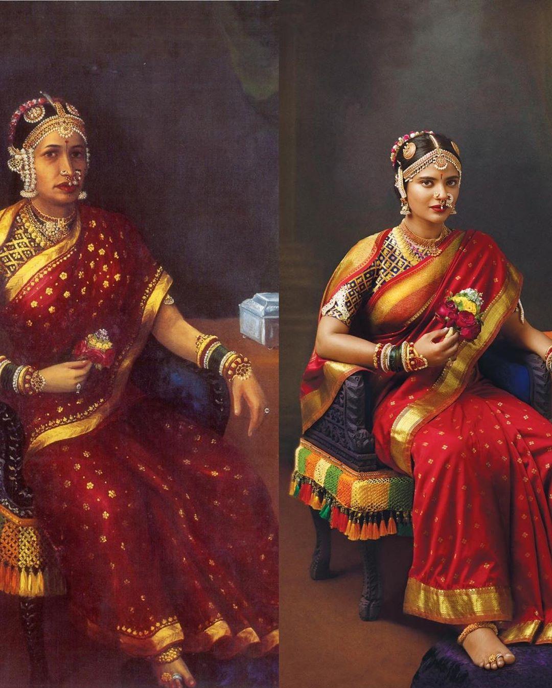 aishwarya rajesh ravi varma painting