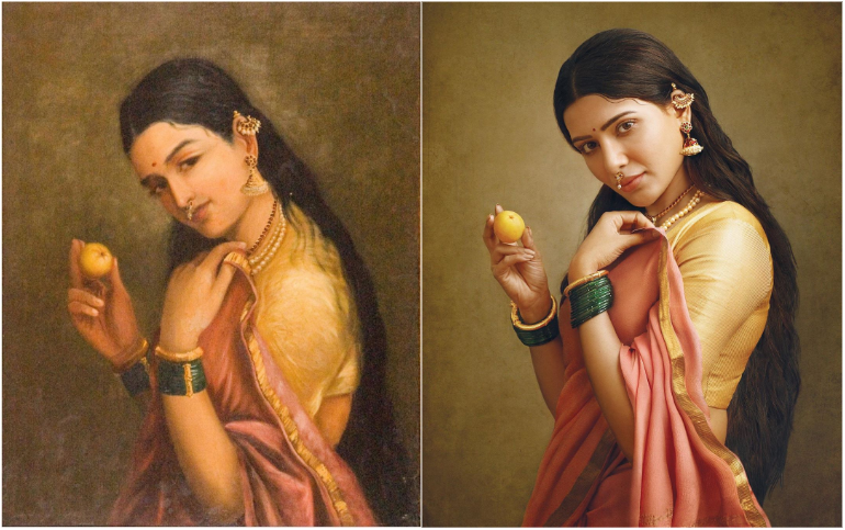 samantha ravi varma painting
