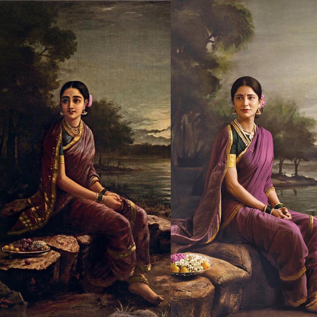shruthi hassan ravi varma painting