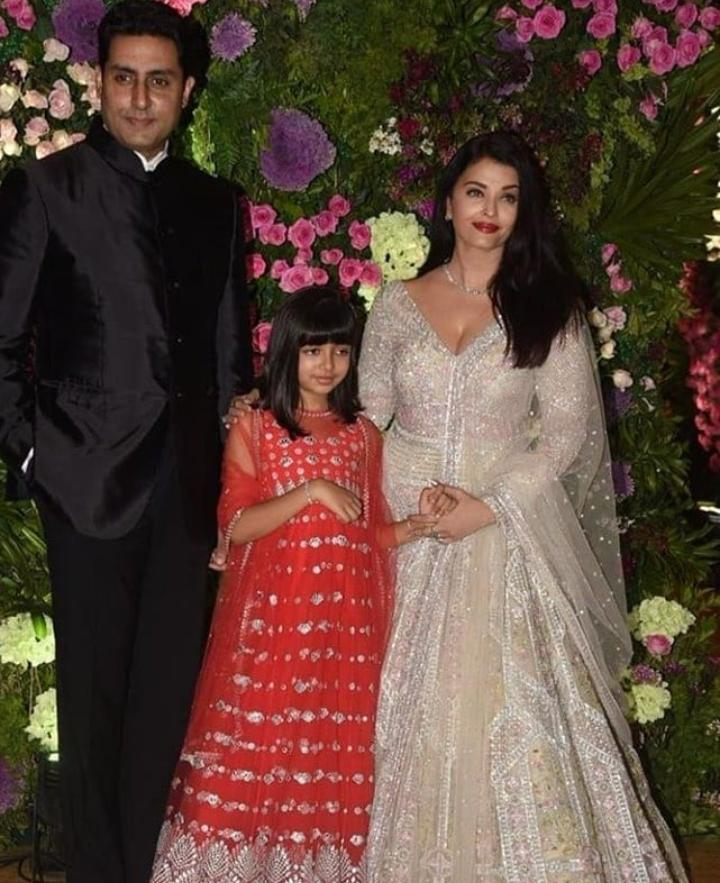 "RT:""Bonobology"" - RT spiceofi: Picture Perfect! juniorbachchan, #AishwaryaRaiBachchan and #AaradhyaBachchan pose for the paps at #ArmaanJain's wedding.  #AbhishekBachchan #BollywoodWedding #IndianWedding #Wedding"