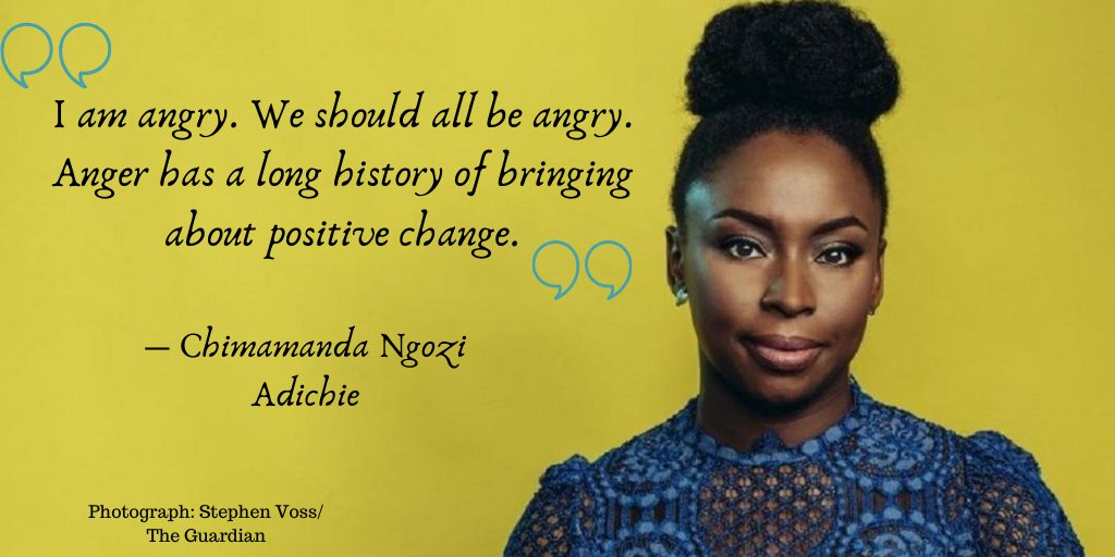 Today, a reminder from Chimamanda Ngozi Adichie of our collective #anger that we as #feminists feel in facing oppression and injustice! Let's use that anger to mobilise for the #WomensGlobalStrike on #IWD2020! #StopTheWorld #IfWomenStopTheWorldStops #Quotes #FeministQuotes #QOTDpic.twitter.com/Wj8uTBbCLI