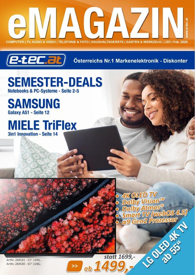Das neue e-tec eMagazin kommt mit starken Semester-Deals sowie den neustens Top-Produkten von Samsung & Miele   https://bit.ly/31lyTVB  #ittrends #etec #emagazin #epaper #prospekt #magazin #technik #elektronik #techniknews #enachrichten #techniknachrichten #techniktrends pic.twitter.com/BTz8sKaD1V