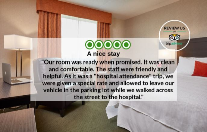 #TestimonialTuesday! We love hearing from our Guests!   #WeLoveOurGuests #OurTravelwayFamily #TripAdvisor #CertificateofExcellence #DiscoverSudbury #ExceedingExpectations   If you would like to review our hotel visit: