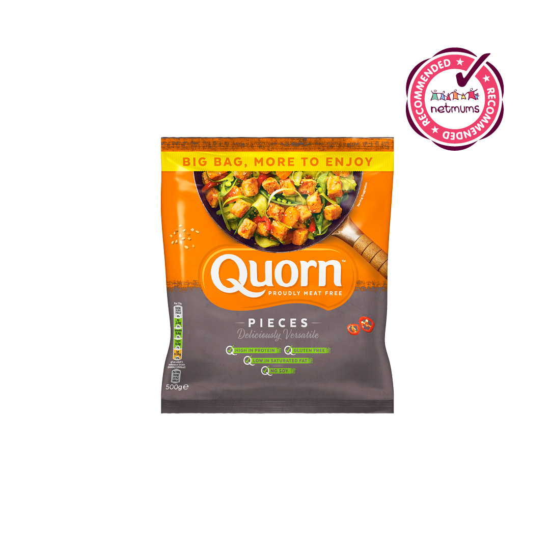 Hurrah for #Quorn Pieces!!! We're delighted to announce that they've received the #Netmums Recommends stamp of approval 👏. In a poll of 82 members, 98% would recommend Quorn Pieces to a friend or family member!