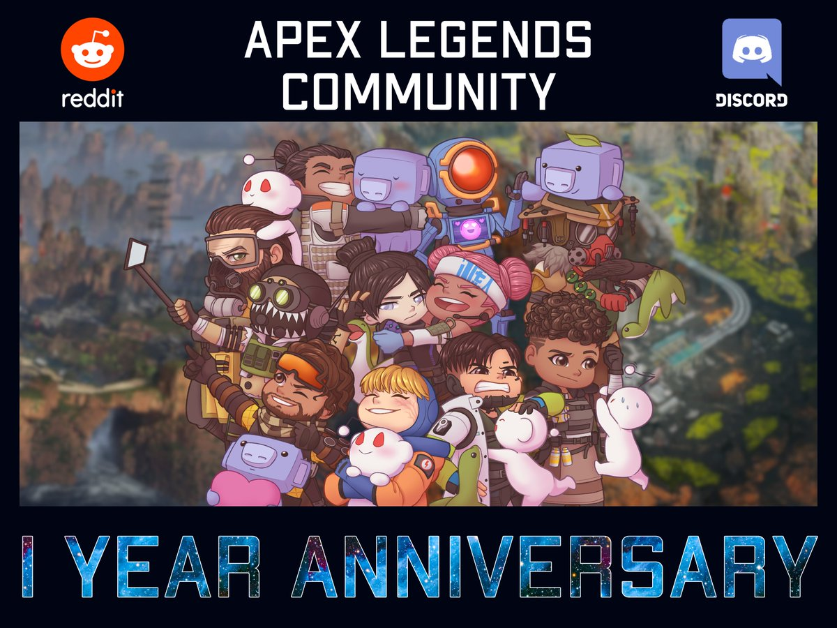 What a crazy year... Happy anniversary, @PlayApex!!! We love you! (Shoutout to @CryAllen_Art for the artwork; it's amazing!)