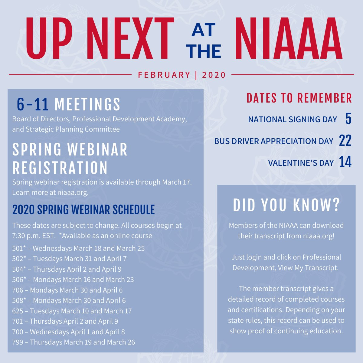 Take a look at what's going on this month at the NIAAA!