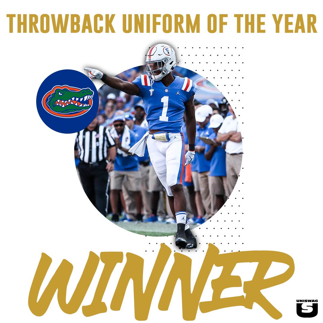 The UNISWAG Nation has cast their votes and the Throwback Uniform of the Year goes to @GatorsFB #uniswag