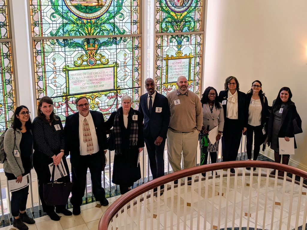 Meetings in the House with some of our advocacy day attendees!