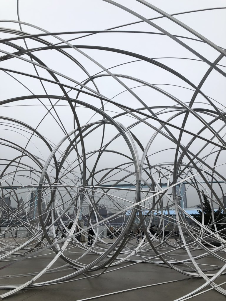 """""""It's more of a verb than a noun."""" — Artist Antony Gormley on his #connectbts installation <br>http://pic.twitter.com/XquaLtCUeM"""