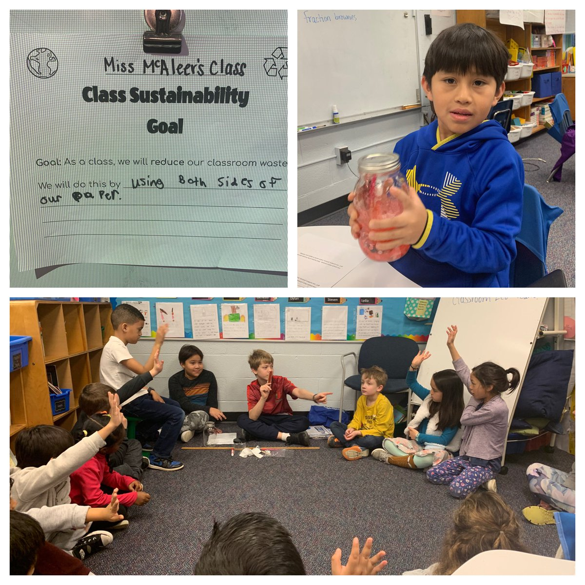 The ECO Team joined us for morning meeting and we learned so much about waste. They helped us set a goal for our classroom to cut down on waste throughout each day! <a target='_blank' href='http://twitter.com/CampbellAPS'>@CampbellAPS</a> <a target='_blank' href='https://t.co/215YvuejMT'>https://t.co/215YvuejMT</a>
